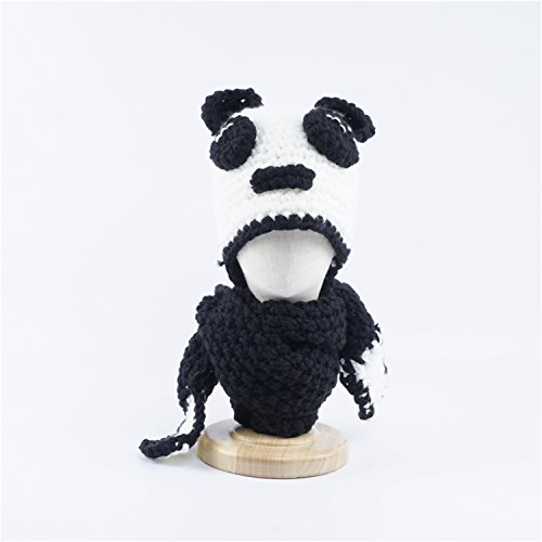 Jenny Shop Winter Kids Warm Fox Animal Hats Knitted Coif Hood Scarf Beanies for Autumn Winter (Panda, Free size)