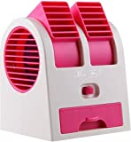 Dual Bladeless Mini Air Conditioner Cooling Fragrance Fan Random Color by ShoppingTadka ( Assorted Color)