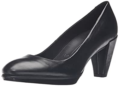 ECCO Women's Shape 55 Plateau Platform Pump,Black,37 EU/6-6.5 M US