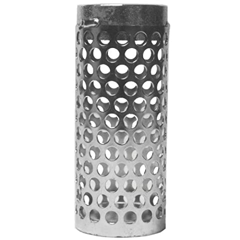 Dixon RSS25 Zinc Plated Steel Round Hole Long Thin Strainer, 2