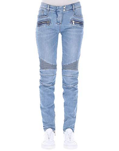 Jeans Balmain Coton Claire Bleu Femme 145487D002C3145 pawXqF