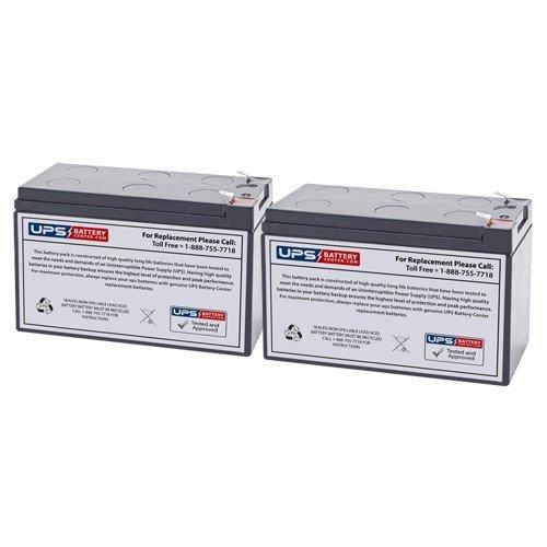 12V 7.2Ah F2 Compatible Replacement Battery Pack by UPSBatteryCenter® for Razor e200 / e200s / e225 / e300 / e300s / e325 - Set of 2 UPS Battery Center 12V-Razor-batt