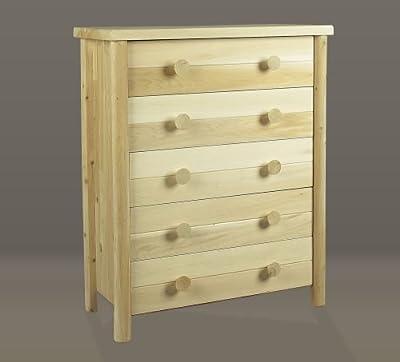Handcrafted Natural Cedar Five Drawer Dresser