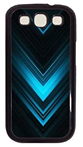 Abstract Blue Arrows Case Cover for Samsung Galaxy S3 SIII I9300 PC Black