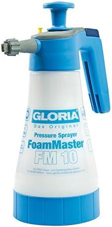 Gloria FoamMaster FM 10 | Schaumsprüher | 1 L Füllinhalt | Austauschbare Schaumpatronen | Drucksprüher zur Fahrzeugreinigung