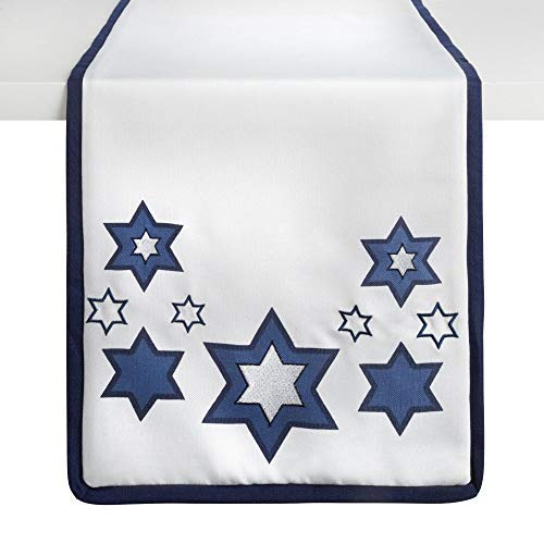 ML Elegant Interiors Star of David Print Hanukkah Table Runner 13