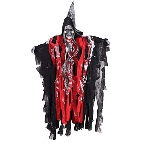 Cibeat Halloween decortions, Halloween Ghosts Hanging Horror Electric Skull Ghost for Ghost Haunted House Halloween Decorations -