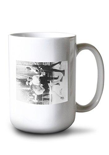 Lantern Press Boxers Marty Cutler and Jack Johnson - Vintage Photograph (15oz White Ceramic Mug)