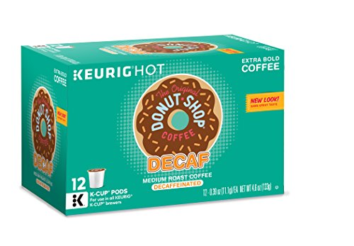 The Original Donut Shop Keurig Single-Serve K-Cup Pods, Medium Roast Coffee 12 count, DECAF (Pack of 6) by The...