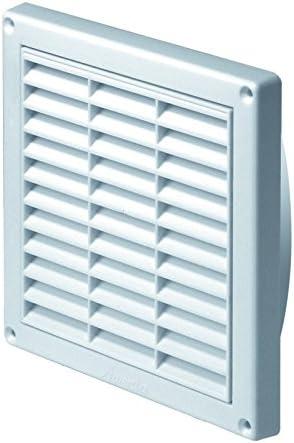 T11 Blanco Rejilla de ventilaci/ón 165/mm x 165/mm con mosquitera//malla y 110/mm redonda para conductos de conexi/ón//cuello conducto ventilaci/ón
