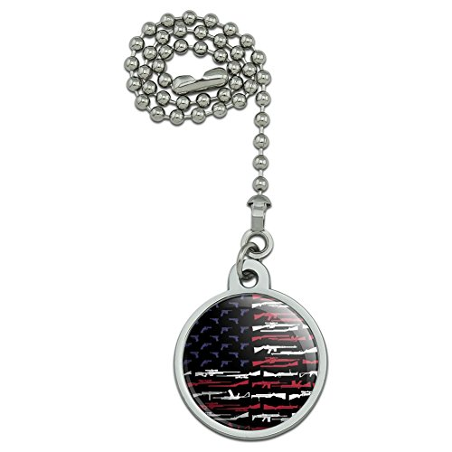- GRAPHICS & MORE American Gun Flag USA Second 2nd Amendment Ceiling Fan and Light Pull Chain