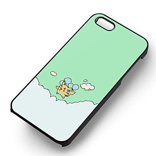 Pikachu Balloons pour Coque Iphone 6 et Coque Iphone 6s Case (Noir Boîtier en plastique dur) B1H4BB