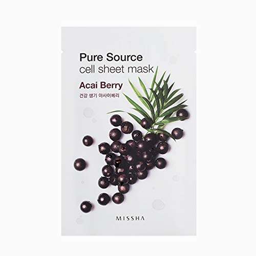 MISSHA Pure Source Cell Sheet Mask (Acai Berry) 10 sheet