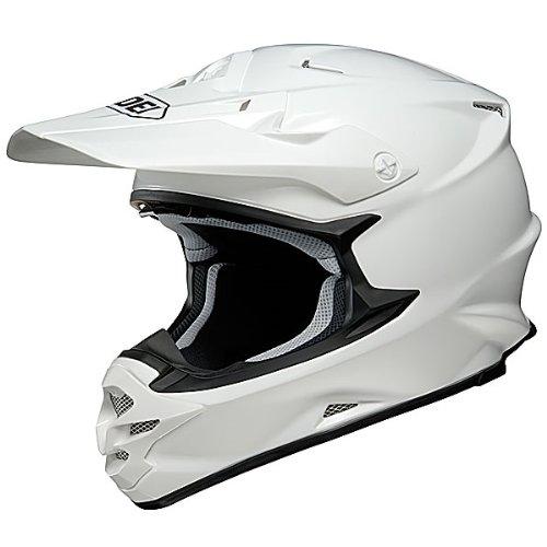 Shoei Solid VFX-W Off-Road/Dirt Bike Motorcycle Helmet - White / 2X-Large