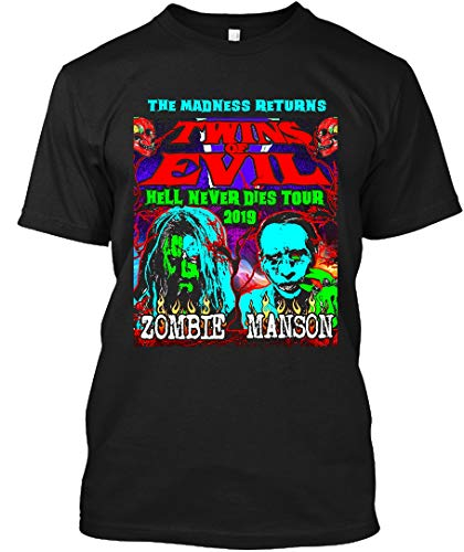 Twins of Evil 2019 Tour Madness melati Gildan Short-Sleeve T-Shirt|Unisex T-Shirt|Sweatshirt|Hoodie Black