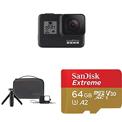 Amazon.com: GoPro HERO7 Black + Travel Kit + (1) microSD ...