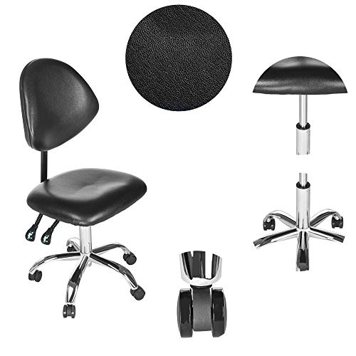 Sonmer Modern Simple Office Chair, with Adjustable Backrest,360° Free Rotation,Pulley Aluminum Alloy Prong Base, Explosion-Proof Chassis by Sonmer (Image #4)