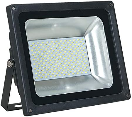 ASD 100W LED Flood Light Outdoor – 4000K Bright White 7783lm SMD Super Bright Security Lights, Waterproof Flood Light for Garage Yard Garden – UL Listed DLC – Black