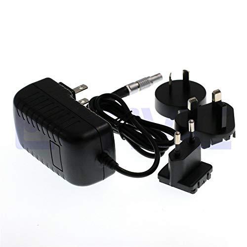 Muccus Eonvic 2-Pin LEMO to AC Teradek Vaxis Power Adapter Cable with US EU AU UK Plugs