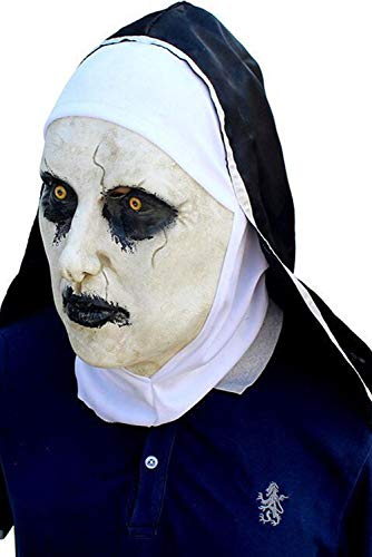 Mutrade Adult Horror Masks with Wimple Costume Latex Halloween Props