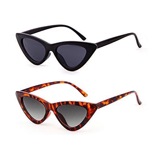 Pcs 1 gato de vintage ADEWU para gafas Kurt de niñas protección estilo de Cobain sol sol Black Gafas amp; Tortoise Gafas retro de de mujeres 2 ojo qCwnXpFBw