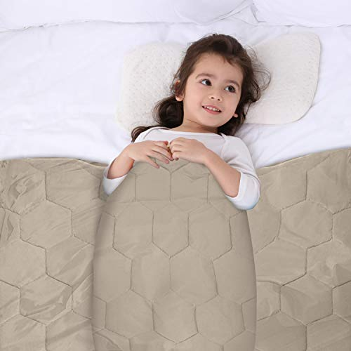Cheap YEMYHOM 100% Cotton Weighted Blanket Kids Bed Heavy Blankets for Great Sleeping (40
