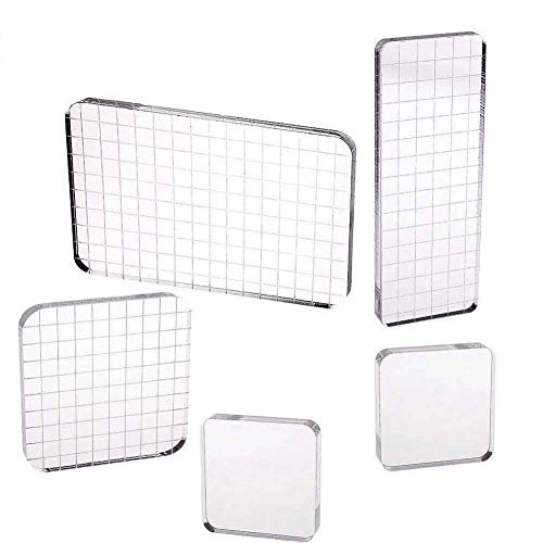 mping Blocks with Grid Lines for Scrapbooking Crafts Making, 4 Sizes ()