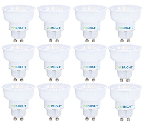 Led Mr16 10 Piece - Viribright 750101-6 0101 35W Equivalent MR16 GU10 LED Light, Daylight 6000K, Wide Flood 115° Beam Angle, (Pack of 12) Dimmable, 12 Piece