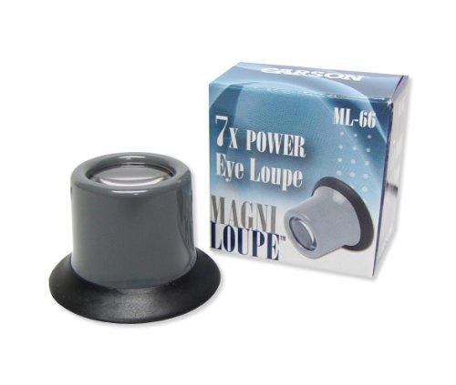 Carson MagniLoupe 4.5x/7x/8x/13x Power Eye Loupe with Rubber Cushion (ML-44, ML-66, ML-88, ML-10)