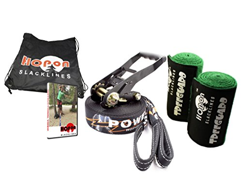 HopOn 50ft Powerline Slackline with Dynamic Webbing