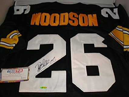 quality design 93411 4854c Rod Woodson Signed Pittsburgh Steelers Jersey, TRISTAR ...