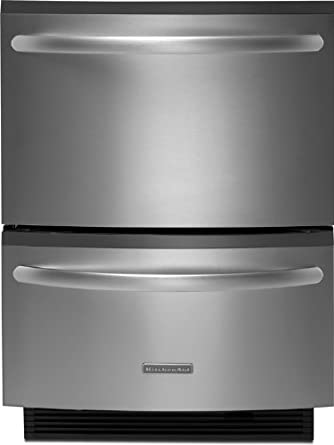 Kitchenaid KUDH03DTSS Double Drawer Dishwasher 5 Cycles/3 Cycle Options Architect  Series II