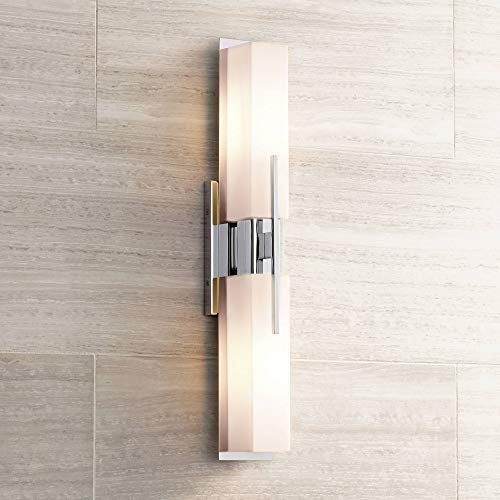 Midtown Modern Wall Light Chrome 23 1/2
