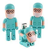 COMTOP 16GB Usb drivers Cartoon Doctor Robot USB Flash Drive Gift For Fathers day (Green)