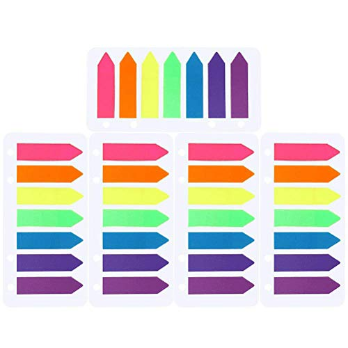 Adhesive Note Set - 700 Pieces Page Makers, Color Scissor 5 Sets Sticky Notes Tabs Neon Colors Adhesive Page Index Tabs Flags