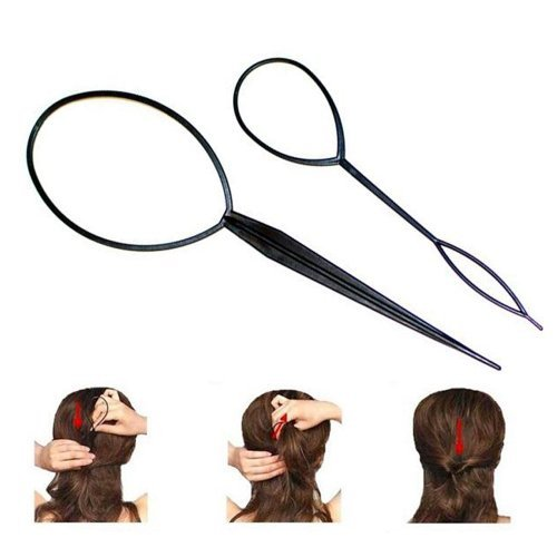 New 10PCS Topsy Tail Hair Braid Ponytail Maker Styling Tool (Braid With Ponytail)