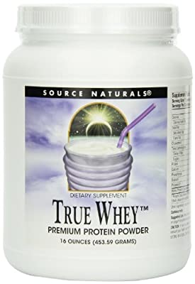 Source Naturals True Whey, 16 Ounce (Pack of 2) from Source Naturals