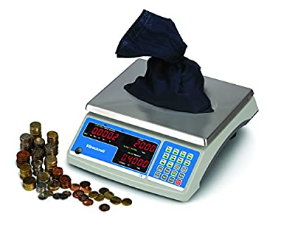 Brecknell B140-30 General Purpose Counting/Coin Scale, 12lb Capacity, Counting and Coin Function, Steel, Plastic