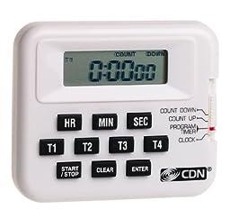 CDN PT1A Digital Timer/Clock 4 Event Programmable - Set of 2