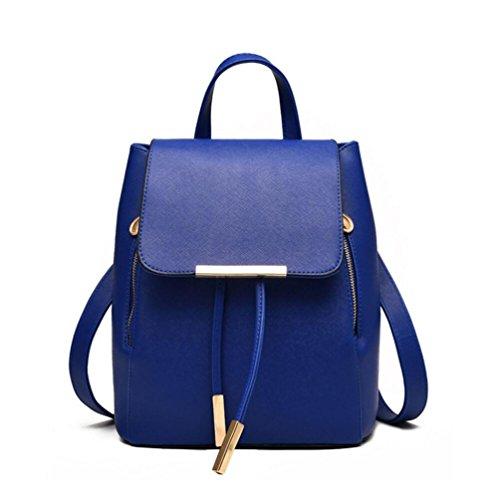 XibeiTrade - Bolso mochila  de Material Sintético para mujer azul oscuro