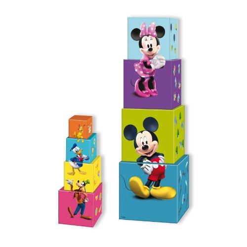Diset - 46259 - Jouet De Premier Age - Cubes À Empiler Clubhouse Mickey