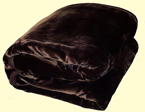 Wonu Korean Quality Heavyweight King Two-Ply Dark Chocolate Brown Mink Blanket