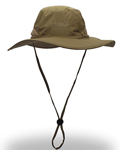 77ee6aee6be Outdoor Sun Protection Hat Wide Brim Bucket Hats UV Protection Boonie Hat 56 -62cm. by yoyeah. Color  Army Green