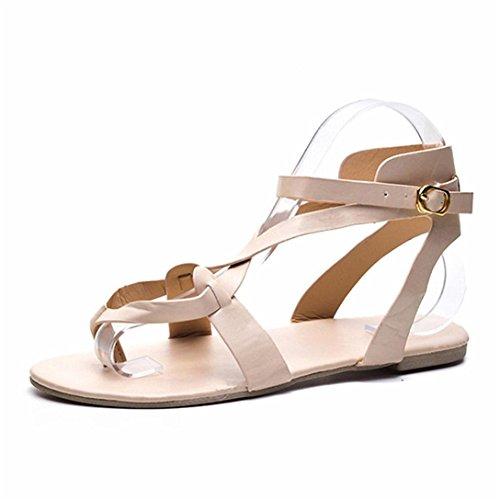 Romane Flip Beige Cross tip Donne Da Shoes Pantofole Flops Scarpe Sandali Spiaggia Ragazze Eleganti Estate Toe Kword Donna xTPZ8cq