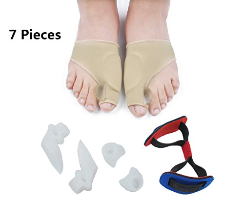 Faladi- Bunion Corrector Bunion Relief Protector Sleeves Kit- High Quality Bunion Corrector 100% Medical Silicone Hallux Valgus Pro for Footcare