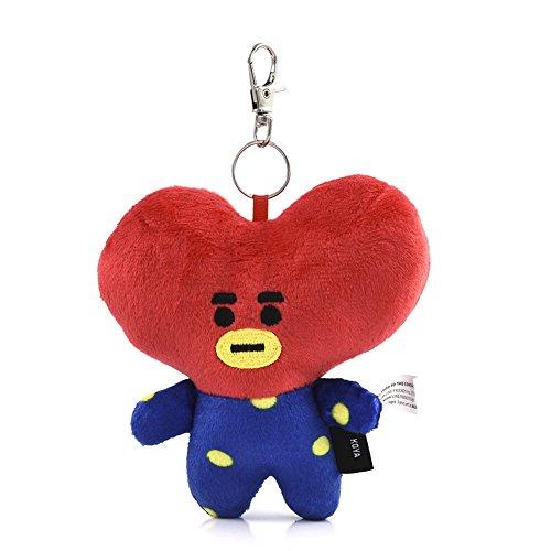 Red Pea Designs Sweet (Fashionwu Pendant Key Ring Handbag Car Charm Chain Cute Cartoon Plush Toy Random Style)