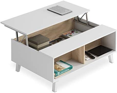 Habitdesign 0F6633BO - Mesa de Centro elevable Comedor salón ...