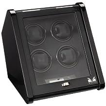 Volta Unisex Signature Series Quad Slanted Carbon Fiber Watch Winder Black 31-560045