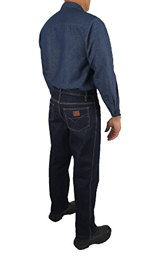 Kolossus Men's Lightweight 100% Cotton Long Sleeve Work Shirt with Pockets (Chambray, Small) by Kolossus (Image #4)