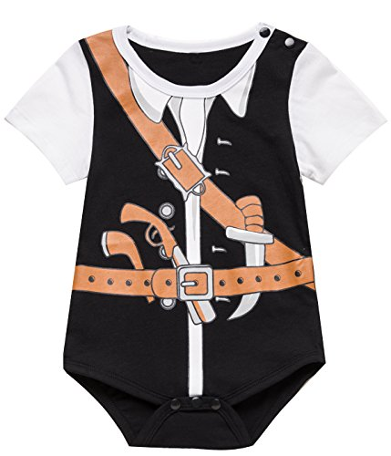 Paddy Field Baby boys' Halloween Pirate Uniform Outfit Costume toddler bodysuit (6-12 Months, (Pirate Uniform)